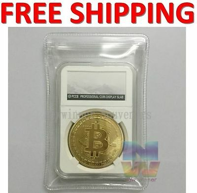 New Rare Collectible In Stock Golden Iron Bitcoin Commemorative Coin Currency