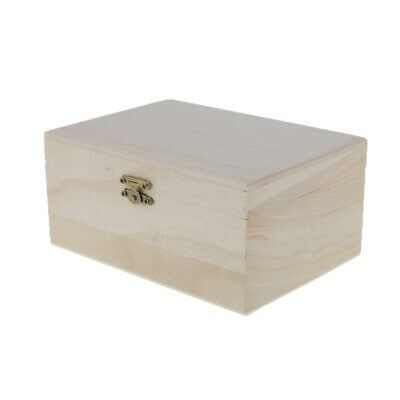 Small Unfinished Unpainted Wood Wooden Storage Box Jewelry Christmas Eve