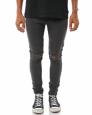 New Afends Men's Beat Junky Mens Jean Cotton Fitted Elastane Black