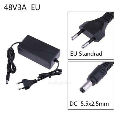 48V 3A AC to DC Power Supply Adapter Converter Plug 5.5*2.5mm for POE Switch