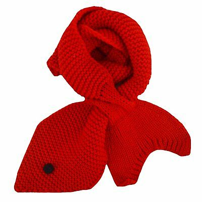 Adela Boutique Toddlers Infant Babies Mermaid Scarf Soft Knitted Winter Warm Red