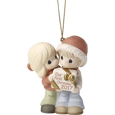Precious Moments Our First Christmas Together 2017 Dated 2017 Bisque Porcelai...
