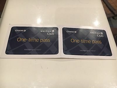 1 United Club Airport Lounge One-time Day Pass - Exp 01/31/2018 * $59 Wert