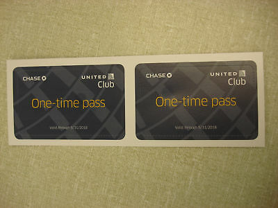 2 United Club Airport Lounge One-time Day Pass - Exp 05/31/2018 * $118 Wert