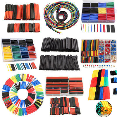 530pcs/350pcs Assorted Heat Shrink Tube Polyolefin 2:1 Cable Sleeving Tubing