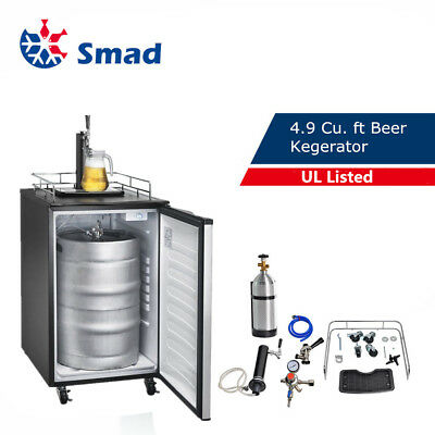 SMAD Beer Dispenser Stainless Steel Keg Kegerator Beer Fridge Reversible Door
