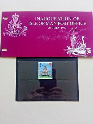 c.....ISLE OF MAN Presentation Pack 1973 INAUGURATION 0F ISLE OF MAN POST OFFICE