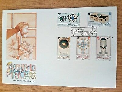 c.....Isle Of Man 1989  First Day Cover ARCHIBALD KNOX  1864-1933...unaddressed