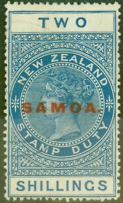 Samoa 1926 2s Blue SG165 Thick Opaque Cowan Paper P.14.5 x 14 V.F Lightly Used