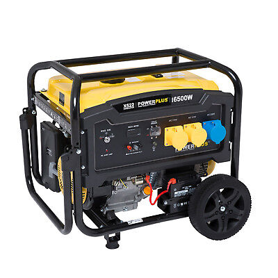 Powerplus 6500w 12HP 8KVA ELECTRIC KEY START 4 Stroke Petrol Generator 110v 240v