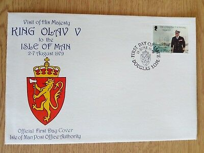 c...........ISLE OF MAN - 1979 FIRST DAY COVER..VISIT OF KING OLAV V.unaddressed