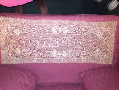 Antique Recella Needlework Table Runner