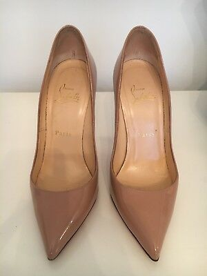 100% Authentic Nude Patent Pigalle 120mm Christian Louboutin Pumps Size 37 UK 4