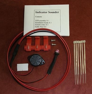 +ve (pos) EARTH  Ulatra Bright RED LED AND BUZZER  Indicator Warning Device