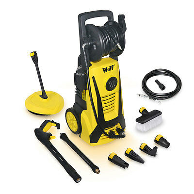 Wolf Blaster Max 2200w 165BAR Pump Power Pressure Washer & 10m Drain Cleaner