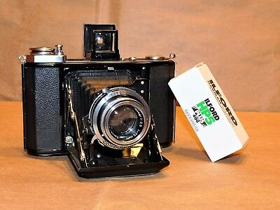 Zeiss Ikon 521/16 Ikonta folder, Opton Tessar lens, CLA by Jurgen Kreckel, Read