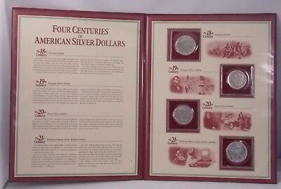 Four Centuries of American Silver Dollars Portrait, Morgan, Peace, Silver Eagle
