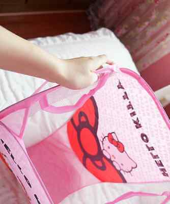 Hello Kitty cartoon cute easily bear folding laundry basket Storage basket Stora