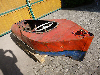 Antik Oldtimer Boot Metalboot Loftmöbel deco Scheunenfund Bar Tisch Vintage
