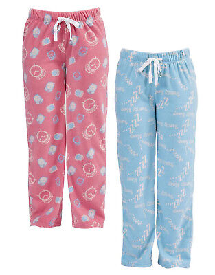 Ladies Fleece Pyjama Bottoms Lounge Wear Pj Pants Womens Nightwear Bnwt