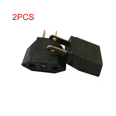 2PCS EU to US Conversion Plug Adapter American European Travel Adapter NEW