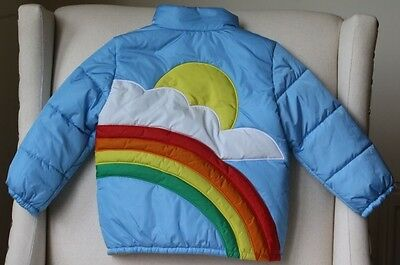 Gucci Baby Blue Rainbow Down Padded Jacket 24 Months