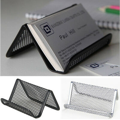 Metal business card stand holder office display black mesh pocket metal business card stand holder office display black mesh pocket dispenser sing colourmoves