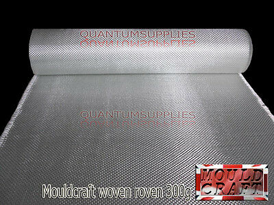300g Fibreglass Woven Roving Mat 300gm 5m x 1m uses RESIN MOULDS - FREE SHIPPING