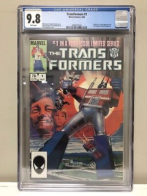 Transformers (1984) #1 Cgc 9.8 Nm! High Grade! White Pages! Marvel Comics