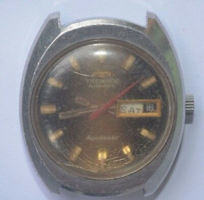 Vintage Technos Auto St Steel Watch. Ref10436, Cal 2789 For Repairs