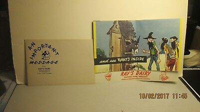 Nice Advertising Item, Ray's Dairy, Saxtons River, Vt. With Envelope