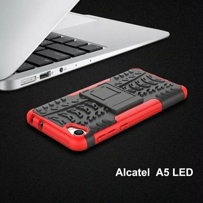 For Alcatel A5 LED Case Shockproof Kickstand Armor Rubber Hard Cover