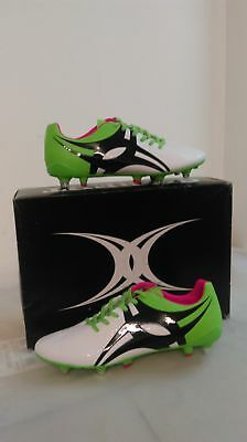 Clearance New Gilbert Rugby Boot Evolution Green White Size 8