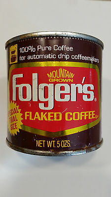 Vintage Folger's Coffee 5 oz. Special Trial Size Can
