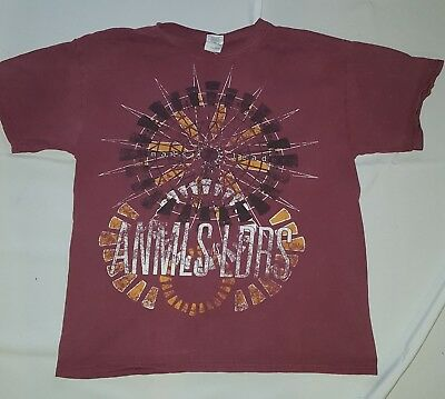 Animals as Leaderts T shirt (PURPLE/BURGUNDY / Large)