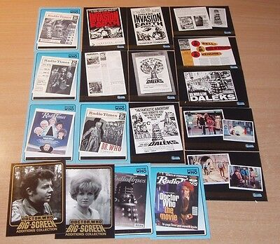 Job Lot of Strictly Ink Doctor Who Chase cards.