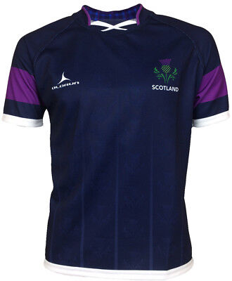 Olorun Scotland Thistle Sublimated Supporters Rugby Shirt S-4XL