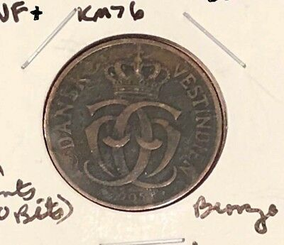 SOUTH AFRICA 1905(h) 2 CENTS(10 BITS), KM76, VF+, BRONZE, BUSINESS, FREE SHIP
