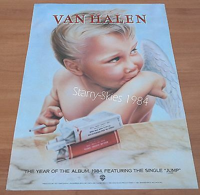 Van Halen Jump~Headpins Line Of Fire 1984 2 Sided Promo Ad