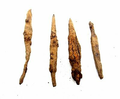 Lot Of 5 Roman Military Iron Arrow Heads -  Rare Ancient Artifact Superb - P866