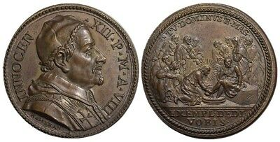 M- Rome, Innocent XII, AE Medal 1699, Washing of the feet, MS329