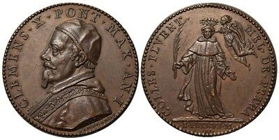 M- Rome, Clement X, AE Medal 1670, Election and coronation, MS5