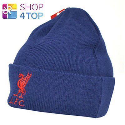 Liverpool Fc Navy Cuff Knitted Turn Up Beanie Hat Football Soccer Club Team New