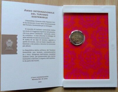 2 Euro SM, INTERNATIONALE DEL TURISMO , Coincard im Folder, st