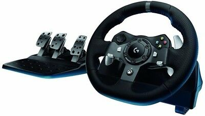 Logitech G920 Driving Force (941-000121) Wheel And Pedals Set with Brake Fix Mod