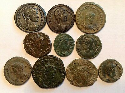 AN INTERESTING LOT of FOURTH CENTURY BRONZE COINS !