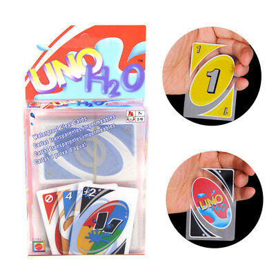 Standard 108UNO H2O Waterproof Playing Cards Games Family Travel Instruction Fun