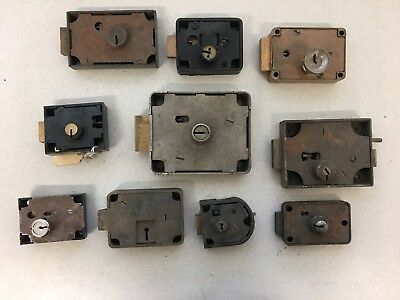 Lot of 10 Mixed Vintage Antique Lever Locks Yale Mosler Other