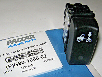 ~New Oem Paccar Kenworth Air Suspension Dump Valve Control Switch  ~ G90-1066-02