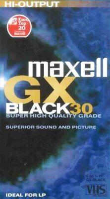 Videokassette Maxell GX E-30 Minuten HI Quality VHS IDEAL FOR LP